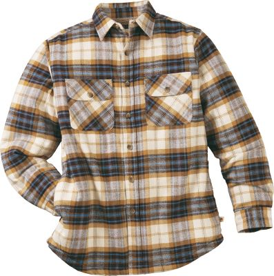 For work or play, this heavyweight 7-oz. cotton flannel jacket fights chills. Ultrasoft microfleece lining delivers comfort and additional warmth. Lower side seam pockets. Machine washable. Imported.Sizes: M-2XL.Colors: Cocoa Plaid, Moss Plaid.Dakota Grizzly Style No.: 47420. - $29.88