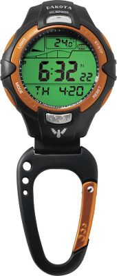 Keep track of time, temperature, the tide and the current UV reading with one go-anywhere clip watch. Conveniently attached to a carabiner, you can clip this watch to your backpack or beach bag. The Sunglow Laser Film Display makes for easy reading on the brightest days. Moonglow Electro Luminescent Dial Light allows for easy reading on the darkest nights. Water-resistant to 165 ft. Lightweight plastic case with rubber fob and caseback protector. Other features include date, chronograph and alarm.Case diameter: 2 . Colors: Orange, Black. Color: Orange. Gender: Male. Age Group: Adult. - $45.88