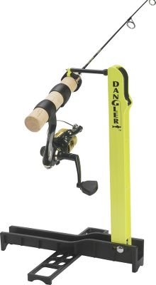 Fishing The ability to detect the most sensitive of bites and react quickly is key to ice-fishing success, and the Dangler Rod Holder helps you do just that. Its made of rugged nylon with a stainless tempered-steel release wire in a lightweight, compact, very portable fold-up design. The rod tip is elevated for enhanced visibility so you can detect the lightest of bites without using a bobber, and hook setting is both quick and smooth for right- and left-handed fishers. Fingertip jigging is a snap, and a breeze adds even more bait action. Balances most rod/reel combinations. Rod and reel not included. Optional Accessory Strap allows you to quickly and easily change rods when the fishing conditions change. Available: Rod Holder, Accessory Strap. Color: Stainless. Type: Rod Holders. - $3.99