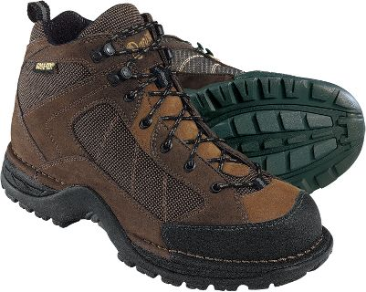 Camp and Hike This is the time-tested design that helped to re-establish Danner as one of the premier hiking boot makers in the world. Based on the advanced Terra Force technology, the Radical 452 GORE-TEX is as light as it is tough. While internal and external nylon shanks provide uncompromising stability and responsiveness, a super-soft polyurethane midsole and sturdy footplate provide comfort without sacrificing security. And with the trusted, 100% waterproof protection of GORE- TEX, your feet will be as dry as they are comfortable. Ht: 5.5 Avg. wt: 2.8 lbs./pair. Mens sizes: 8-13D and 9-13EE widths. Half sizes to 12. Color: Brown, Coffee. Size: 11.5. Color: Brown. Gender: Male. Age Group: Adult. Material: Nylon. Type: Boots. - $135.99