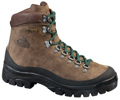 "Camp and Hike A modern take on classic hiking boots. Durable and versatile, they will tackle a variety of difficult terrain. Features include a 100% waterproof, breathable GORE-TEX lining, full-grain leather uppers, speed laces and Vibram 1276 Bifida outsoles. Imported.Height: 6-1/2"".Average weight: 3.25 lbs. per pair.Men's sizes: 7-14 medium width, half sizes to 12; 8-13 wide width, half sizes to 12.Color: Brown. - $189.99"