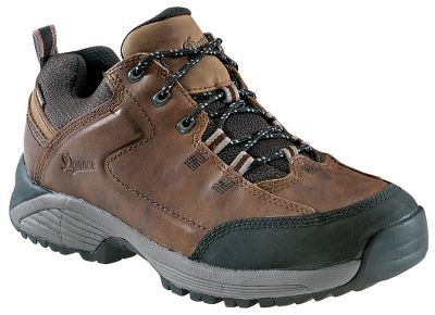 "Camp and Hike Full-grain nubuck uppers team up with 100% waterproof, breathable GORE-TEX lining a combo that ll arm you with confidence to hit the trail. Dual-density EVA platforms offer a lightweight, athletic bounce. ESS plates give you the underfoot protection required while on the road less traveled. Synergy heel system optimizes the responsive fit. Trailguard outsoles give you the ground-gripping tread you demand. Imported. Height: 3"".Average weight: 2.5 lbs./pair.Men's sizes: 8-13 D width; 9-13 EE width. Half sizes to 12. Color: Brown. - $79.88"