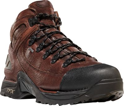 Camp and Hike Rated a Best Buy by Backpacker magazine, these all-leather hikers combine comfort and performance in one long-wearing pair of boots. Full-grain waxed leather uppers shed water, while the GORE-TEX waterproof, breathable linings ensures dry, comfortable feet in the most extreme conditions hard-core hikers encounter. Patented Terra Force support system with Approach TFX outsoles keep the boots light and comfortable while delivering outstanding traction on long expeditions. Scuff-proof toe caps add an extra level of protection against wear. TPU shanks. Imported. Height: 5.5. Average weight: 3.1 lbs./pair. Mens sizes: 7-15 D and EE widths. Half sizes to 12. Color: Brown. Size: 9.5. Color: Brown. Gender: Male. Age Group: Adult. Material: Leather. Type: Boots. - $189.99