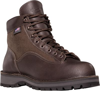 "Camp and Hike Classically designed and filled with features, these boots are prepared for any hiking trail. 100% waterproof and breathable GORE-TEX liners keep your feet comfortably dry. The uppers, made of full-grain leather and quick-drying 1,000-denier nylon, offer outstanding foot protection, scuff and abrasion resistance, and a breathability youll appreciated on long, hot hikes. Handcrafted, stitch-down construction provides a wider platform for increased stability on rugged terrain, and the half-length, fiberglass shanks and molded polyurethane insteps cup the heels and support the arches for all-day comfort. The highly durable Vibram outsoles boast ground-gripping traction on wet and dry surfaces. The lightweight and comfortable heels are specifically designed to absorb the shock of constant footfall. Recraftable. Made in the USA.Height: 6"".Average weight: 3 lbs. 13 oz./pairMens sizes: 7-14 D width; 6-13 EE width. Half sizes to 12. Color: Dark Brown. - $319.99"