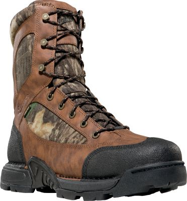 Hunting Danner took the outstanding performance of its renowned Pronghorn hunting boots and added new technical features and updated their look. Incredibly rugged and scuffproof black Tech-Tuff toes and heels guard vulnerable areas against wilderness hazards. Advanced stability and support are afforded by Terra-Force platforms. Waterproof and breathable GORE-TEX linings keep feet dry. Fatigue-Fighter footbeds deliver outstanding arch support. Ground-gripping Mountain Goat TF outsoles. 400-gram Thinsulate Ultra with leather and 1,000-denier nylon uppers. Imported.Height: 8Average weight: 4.2 lbs./pair.Mens sizes: 8-14 D width; 8-14 EE width. Half sizes to 12.Camo pattern: Mossy Oak New Break-Up. Size: 13. Color: Camouflage. Gender: Male. Age Group: Adult. Material: Leather. Type: Insulated Hunting Boots. - $99.88