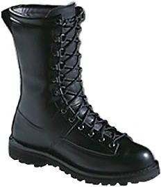 FORSCOM-approved boots are loaded with all of the features that the consummate foot soldier needs and desires. This 10 , uninsulated boot includes a cushioning Vibram Kletterlift sole, making it perfect for warm climates or long marches over hard, rocky ground. The full-grain leather uppers protect waterproof, breathable GORE-TEX and Cambrelle linings eliminating any threat of wet, perspiration-soaked feet. An included airthotic insole helps reduce and fight fatigue when a long day requires you to go above and beyond the call of duty. Weight: 4.4 lbs. Men's sizes: 7-15 D width; 6-13 EE width. Half sizes to 12. Size: 10.5. Color: Black. Gender: Male. Age Group: Adult. Material: Leather. - $399.99