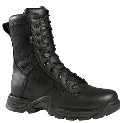 "Bad guys beware. These cold-weather duty boots feature 400-gram Thinsulate Ultra Insulation; 100% waterproof, breathable GORE-TEX ; a side- and arch-supporting Terra-Force X Lite platform and the TFX Lite oil- and slip-resistant outsole. Full-grain leather/1,000-denier nylon uppers. Imported.Height: 8"".Average weight: 3 lbs. per pair.Men's sizes: 7-14 medium width, half sizes to 12; 8-13 wide width, half sizes to 12.Color: Black. - $209.99"