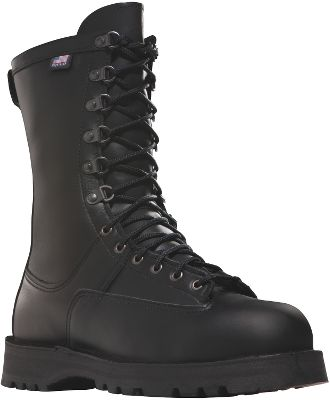 "Created with the help of two career Army officers from Fort Lewis, Washington, these boots set the standard by which other uniform boots are judged. Made in the USA and FORSCOM approved, these cold-weather boots are tough to beat. Features include 100% waterproof, breathable GORE-TEX ; 600-gram Thinsulate Ultra Insulation; ASTM-F2413-05/75 C/75-certified nonmetallic composite toes; and Vibram 1276 Sierra outsoles with Dry Ice cold-weather slip resistance. Easy-to-polish full-grain leather uppers.Height: 10"".Average weight: 5.4 lbs./pair.Men's sizes: 7-15 medium width, half sizes to 12; 6-14 wide width, half sizes to 12.Color: Black. - $379.99"