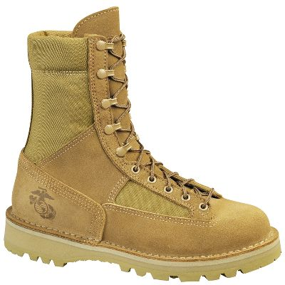 The Corps has high standards the Danner Marine Military Boots meet them. USMC certified, these boots are made in the USA with expert craftsmanship and top-of-the-line materials that meet strict specifications. Features include 100 waterproof, breathable GORE-TEX, rough-out full-grain leather/1,000-denier nylon uppers and Vibram Sierra outsoles. Danner's famous stitchdown construction gives stability and durability to these fit-for-duty boots. Lace-to-toe fit and support.Height: 8 .Average weight: 4.13 lbs./pair.Women's sizes: 5-11 medium width, half sizes to 10.Color: Tan. Size: 5. Color: Tan. Gender: Female. Age Group: Adult. Material: Leather. Type: Military/Duty Boots. - $204.99