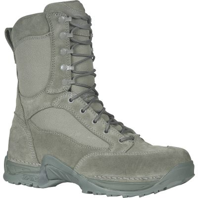 "When duty calls for acceleration in cool conditions, Danner TFX military boots with lightweight Terra Force technology are ready to serve. The Terra Force platform provides traction, heel-to-toe energy transfer and side support. It's built over Approach TFX outsoles for lightweight acceleration and traction. These boots also feature 100 waterproof, breathable GORE-TEX for all-weather performance. Fatigue Fighter footbeds ensure all-day comfort. Rough-out leather and 1,000-denier nylon uppers. Imported. Height: 8"". Average weight per pair: 3.6 lbs. Men's sizes: 6-15 medium width, half sizes to 12; 6-14 wide width, half sizes to 12. Color: Sage. Type: Military/Duty Boots. Size: 8. Shoe Width: D. Color: Sage. Size 8. Width D. Color Sage. - $189.99"