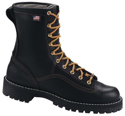 You cant go wrong with Danners legendary Rain Forest Work Boots. They feature 100% waterproof, breathable GORE-TEX and full-grain leather uppers. Stitchdown construction for a more stable and supportive platform. Angled-lug Vibram 132 Montana outsoles. Height: 8. Average weight: 4.63 lbs./pair. Mens sizes: 7-15 medium width, half sizes to 12; 6-13 wide width, half sizes to 12. Color: Black. Size: 7.5. Color: Black. Gender: Male. Age Group: Adult. Material: Leather. Type: Boots. - $339.99