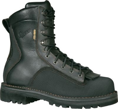"Super Quarrys are an even more comfortable version of Danner's famous Quarry workboot design. Their puncture-resistant Armour Flex II midsoles meet or exceed ASTM F2413-05 I/75 C/75 EH standards. With full-grain leather uppers and all-around abrasion-resistant rubber rands, these boots are made to last. Their supportive steel shanks and Fatigue Fighter footbeds guarantee all-day comfort. Self-cleaning, oil-resistant Vibram Olympia outsoles. Imported.Height: 8"".Average weight: 5.13 lbs./pair.Men's sizes: 7-15 medium width, half sizes to 12; 7-14 wide width, half sizes to 12.Color: Black. - $269.99"