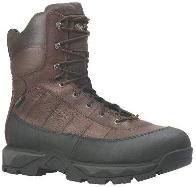 "The Vandal has both athletic styling and work-boot functionality. Lightweight and cushioned with a Danner Vandal Vibramoutsole and a Terra Forceplatform for a lightweight feel. GORE-TEXlining provides waterproof, breathable convenience, and an abrasion-resistant rand keeps the antique Rio leather upper looking good for durability. Add in the 600-gram ThinsulateUltra Insulation, the padded collar, nonmetallic ASTM-certified safety toe, Fatigue Fighter footbed and Achilles pad for comfort, and you may never want to stop working with these boots on. Imported. Height: 8"". Average weight: 3.8 lbs. per pair. Men's sizes: 7-14 D; 8-13 EE widths. Half sizes to 12.Color: Brown. - $244.99"