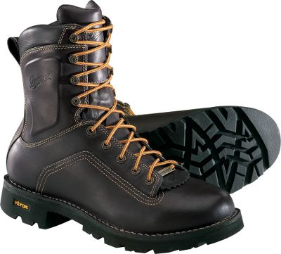 The same quality and performance that has made Danner the choice of discriminating hunters worldwide is what makes its work boots the working mans choice for the job site. These sturdy boots have full-grain leather uppers, 100% waterproof GORE-TEX liners and aggressive Vibram Quarry outsoles that afford exceptional traction on mud, dirt, sand and other workplace surfaces. Memory-foam inserts and Fatigue Fighter footbeds provide all-day comfort. Steel shanks deliver solid support. Recraftable stitchdown construction ensures durability. Imported.Height: 8.Average weight: 5 lbs./pairMens sizes: 8-14 D width; 9-13 EE width. Half sizes to 12.Colors: Black, Distressed Brown. Type: Work Boots. Size: 11. Shoe Width: D. Color: Black. Size 11. Width D. Color Black. - $169.88