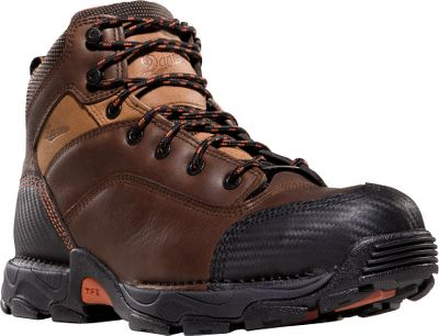 These hand-built boots are made to work without sacrificing comfort for protection from on-the-job hazards. Durable leather uppers and 1,000-denier nylon panels are triple-stitched for long-lasting performance and combine with the abrasion-resistant toes and heels for added insurance against wear. Non-metallic safety toes add an extra measure of protection. 100% waterproof, breathable GORE-TEX linings keep water out while venting perspiration. Lightweight Terra Force X platform and Landscaper outsoles with low profile 90 heels and unique lug pattern provide sure traction for oil and slip resistance and protection from arch overwork and fatigue. Fastened with wide speed laces for a secure, tight fit. Imported. Height: 5. Weight: 3 lbs. 1 oz./pair Mens sizes: 8-14 D and 8-13 EE widths. Half sizes to 12. Color: Brown. Size: 8. Color: Brown. Gender: Male. Age Group: Adult. Material: Leather. - $99.99