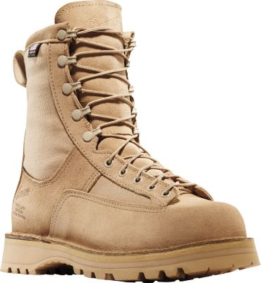 "Built to serve, these military-inspired boots feature Danner's proven lace-to-toe fit and function. Rough-out full-grain leather uppers are backed with 100% waterproof, breathable GORE-TEX . They're lined with 400-gram Thinsulate Insulation for cold-weather protection. Thick, cushioned footbeds and reliable Vibram Sierra outsoles with multi-directional lugs offer maximum traction and stability over various terrains in wet and cold conditions. Made in USA. Height: 8"". Average weight: 4.6 lbs./pair.Men's sizes: 3-16 D and EE widths. Half sizes to 16.Color: Tan. - $304.99"