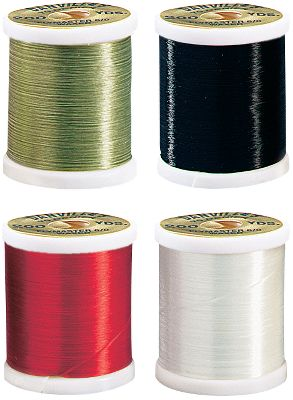 Flyfishing The perfect thread for spinning hair bugs and flies because you can really torque it down without breaking. Also great for tying large streamers. One spool of each. Length: 200 yds. Included colors: Black, Olive, Red, White. Color: White. Gender: Male. Age Group: Adult. - $15.99