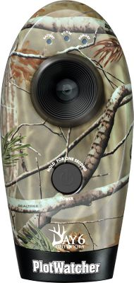 Hunting Unlike trail cameras, that trigger on short-range motion, the Plot Watcher captures images of an area at specified time intervals regardless of how far the subject is from the camera. This greater field of view allows hunters to see game animal travel patterns that would otherwise go undetected. With this ability, you can preview an area and make an educated decision about when and where to hunt. It records HD video of all the activity that happens in the days before you hunt. Images are taken every five or ten seconds from dawn until dusk, producing a HD video. With time-lapse video, you can review a full day of activity in 2-3 minutes. Setup is easy with just one button. Simply select the time-lapse interval on the selector wheel, insert a USB drive (not included; 8GB recommended), turn on the TLV unit and its ready to scout. Includes GameFinder Software with MotionSearch that makes viewing your videos easy. Scroll frame by frame or view at the desired replay speed. Forward and reverse features let you review specific segments of video over and over again. The program also helps you build and share a library of HD video clips and pictures. Operates on four AA batteries (not included). Camo pattern: Realtree AP. Type: Flash. Type: Flash. - $119.88