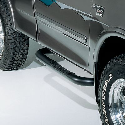 Auto and Cycle Combined with the durability of heavy-duty steel tubing protected by a black satin powder-coated finish, these Dee Zee tubes add styling to your truck. Tough 3-diameter tubing stands up to serious off-road abuse. Large molded plastic step pads provide a stable, high-traction platform for you when climbing into and out of your truck or SUV. Even though they have a true custom look, they install easily without drilling. Three-year warranty on finish. Year: 99-13. Type: Tube Steps. Model: Silverado/Sierra Regular Cab. Make: Chevrolet/GMC. Year/Make 99-13 Gm Reg Cab. - $159.99