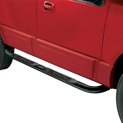 As sharp-looking as they are functional, 4 Oval Tube Steps dress up the exterior of your truck or SUV with a rugged, off-road attitude. The high-grade steel tubes add a classic showroom style and sport nonskid, recessed step pads for easier entry and exit from your truck. Hidden, heavy-duty steel mounting brackets require no drilling for installation. Available: Black, Stainless Steel. Color: Stainless Steel. - $199.99