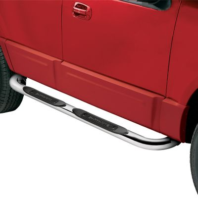 As sharp-looking as they are functional, these stainless steel Oval Tube Side Steps dress up the exterior of your truck or SUV with a rugged, off-road attitude. The high-grade steel tubes add a classic showroom style and sport nonskid, recessed step pads for easier entry and exit from your truck. Hidden, heavy-duty steel mounting brackets require no drilling for installation. Year: 99-11. Type: Tube Steps. Model: Super Duty Crew Cab. Make: Ford. Year/Make 99-11 Sprdty Crew. - $289.99