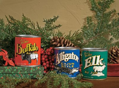 Hunting Experience wild, unforgettable flavors. The perfect holiday gift for dedicated outdoor adventurers.Includes: One 7.5-oz. can of each: buffalo, elk, alligator and kangaroo chili. - $24.88