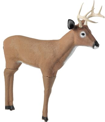 "Hunting Leverage a rutting buck's aggression to your advantage. This decoy's sub-dominant size and posture gets big bucks fired up and ready to defend their home turf. Lifelike body mimics a young buck or doe with ears that can be laid back for an aggressive look. Made of quiet, lightweight foam for easy carrying. Quick to setup and takedown with a step-on stake for easy insertion into the ground. Includes carry case. Dimensions: 44""L x 10""W x 46""H. - $99.99"
