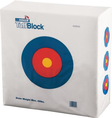 Hunting Recommended for low-poundage bows under 40 lbs. and speeds less than 250 fps, the Tuffblock target is perfect for youth and beginning archers. Use with field tips.Dimensions: 28H x 24W x 12D. - $19.88