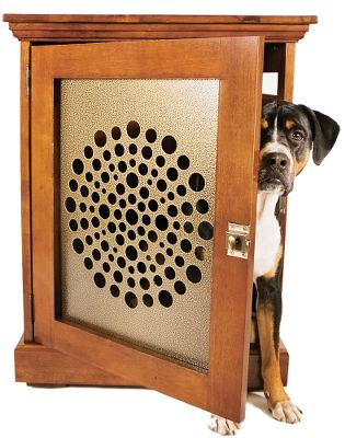 Hunting Add strength and attractive beauty to your TownHaus Dog Den. Grate is crafted of steel with an antique brass finish to match hardware. Easily slides in and out of the TownHaus door (Medium, Large, XL TownHaus sizes only). Made in USA. Sizes: Medium, Large, XL. Size: M. - $89.99