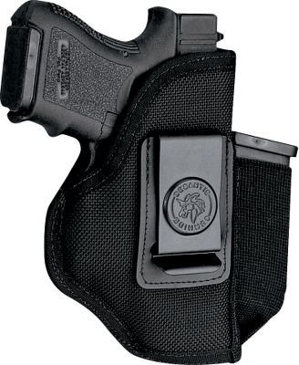 The premium padded DeSantis Pro Stealth Holster is made of sturdy ballistic nylon. 1.75 sturdy, powder-coated black spring belt clip keeps it anchored on your belt and can be removed an inserted on the opposite side for left-hand carry. Models for semiautomatics have a pouch for an extra magazine. Ambidextrous. Made in USA. Color: Black. Type: Concealed Carry. - $34.99