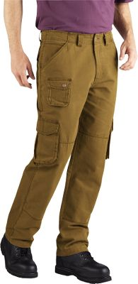 Hunting These rugged cargo pants have a regular straight fit that's perfect for staying comfortable at work. Made of durable 8-oz. 100% cotton canvas that's been garment-washed for a broken-in look and feel. Six-pocket design sports two front slash pockets, two rear pockets and two bellowed cargo pockets on the thighs. Imported. Even waist sizes: 30-44. Inseams: 30, 32. Even waist sizes: 32-38. Inseam: 34. Colors: Black Olive, Brown Duck. - $39.99