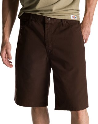 Heavy duty work shorts designed for rugged wear. Its 9.5-oz. 100% cotton ripstop shell withstands the most demanding conditions. Triple-stitched seams resist tearing. Durable brass zipper for long-term use. Tool pocket and loop for added convenience. Imported.Inseam: 11.Even waist sizes: 30-44.Colors: Chocolate Brown, Olive Green, Khaki. - $26.99