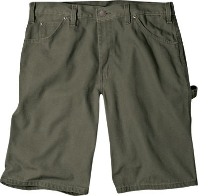 Hunting Casual, relaxed-fit carpenter shorts made of 12-oz. duck 100% cotton, for warm-weather comfort. Triple-stitched seams withstand high-stress activities. Heavy-duty brass zipper for long-term use. Tool pockets, two front pockets and two rear pockets for carrying the essentials. Stonewashed. Imported.Inseam: 11.Waist sizes: 30-33, even sizes 34-50.Colors: Brown Duck, Timber, Desert Sand, Moss. - $24.99