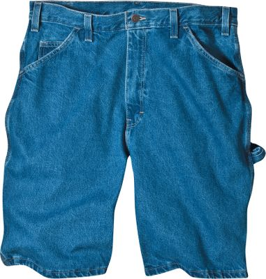 Made of heavyweight 14-oz. denim, these hardworking carpenter shorts feature dual tool pockets and a hammer loop. Triple-stitched seams for long-lasting durability. Stonewashed for a broken-in look. Relaxed fit for comfort. Heavy-duty brass zipper. 100% cotton. Imported. Inseam: 9.5. Even waist sizes: 30-50. Color: Stone Wash Blue. Size: 36. Color: Stone Wash Blue. Gender: Male. Age Group: Adult. Material: Cotton. Type: Shorts. - $24.99