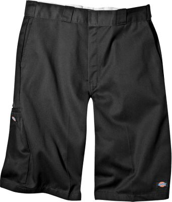 Entertainment Loose-fitting, comfortable, lightweight shorts available in a wide selection of sizes. Theyre crafted of wrinkle-resistant, 8.5-oz. 65/35 polyester/cotton twill with protective stain-release treatment. Theres a multiuse side pocket and an extra pocket on the leg. Distinctive tunnel belt loops. Logo label on the left leg. Machine washable. Imported. Inseam: 13. Waist sizes: 30-60. Colors: Black, Charcoal, Khaki, Dark Navy, Red, Navy, Gray, Olive, Royal Blue. Size: 30. Color: Black. Gender: Male. Age Group: Adult. Material: Wrinkle-resistant. Type: Shorts. - $27.99