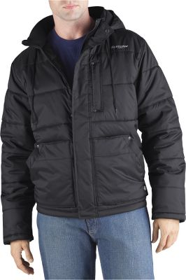 Durable water-repellent finish on shell. Quilted polyfill adds warmth-retaining insulation. Handwarmer pockets. Detachable hood. Hidden rib cuffs. 100% nylon taffeta shell. 100% nylon with polyfill lining. Imported.Sizes: M-3XL.Colors: Black, Charcoal. - $69.99