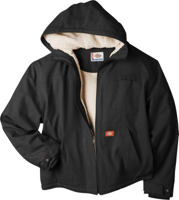 Hunting Made of medium-weight 8-1/2-oz. sanded-cotton duck with durable triple-needle seams, this jacket features a warm Sherpa-fleece lining through the body and hood. The sleeves are nylon-lined for easy on and off. Handwarmer pockets. Brass front zipper. Adjustable cuffs with rib-knit storm cuffs. Imported. Tall sizes: L-3XL. Colors: Black, Brown Duck, Chocolate Brown, Black Olive. Size: 3 X-Large. Color: Black. Gender: Male. Age Group: Adult. Type: Jackets. - $64.99