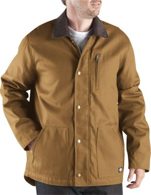 Hunting Ready for practically any cool-weather work, this rugged coat has a water-repellent 10-oz. cotton duck shell and a warm quilted-nylon lining with 6-oz. polyfill insulation. It has handwarmer pockets, a vertical zippered chest pocket and hidden rib-knit cuffs. Imported.Tall sizes: L-3XL.Colors: Black, Brown Duck, Black Olive, Dark Navy. - $64.99