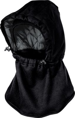 Hunting This hybrid insulated balaclava combines a water-repellent, 10-oz. 100% cotton High Performance Duck hood with a 100% polyester fleece neck gaiter for warmth and versatility. Bungee cord locks and built-in elastic let you adjust the position of the hood and neck gaiter for a perfect fit. Hood is lined with quilted nylon and 6-oz. polyfill insulation. One size fits most. Imported. Colors: Brown Duck, Stay Black, StayDark Navy. Size: One Size Fits Most. Color: Black. Gender: Male. Age Group: Adult. Material: Polyester. Type: Headwear. - $24.99