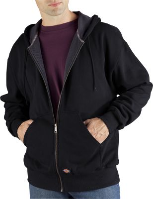 Hunting Thermal lined for supreme warmth, with a soft-yet-rugged cotton/polyester shell. Metal zipper. Handwarmer pockets. Imported. Tall sizes: L-3XL. Colors: Black, Charcoal, White, Dark Brown, Brown Duck, Dark Navy, English Red. Size: Large. Color: Black. Gender: Male. Age Group: Adult. Material: Fleece. Type: Jackets. - $49.99