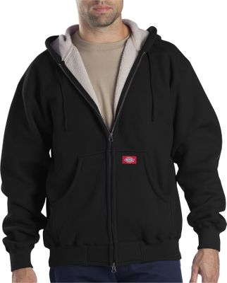 A roomy, thermal-knit fleece jacket bonded and backed by 100% polyester Sherpa fleece for ultrawarm, heat-regulating comfort. Durable front zipper closure. Three-piece drawstring hood. Rib-knit cuffs and bottom hem. Kangaroo handwarmer pockets. 60/40 cotton/polyester. Imported. Sizes: M-4XL. Colors: Black, Charcoal, Dark Brown, Leaf Green. Type: Jackets. Size: 3 X-Large. Color: Dark Brown. Size 3xl. Color Dark Brown. - $49.99