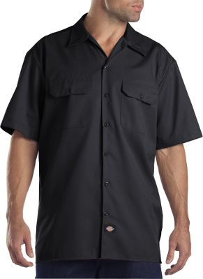 Entertainment When work on the job heats up, this is the shirt to have for staying cool.The original fit has generous room across shoulders for ample freedom of movement. Moisture-wicking, 5-1/4-oz. 65/35 polyester/cotton-twill construction moves perspiration away from your skin. The shirt is stain-resistant to repel spills and stains. Two chest pockets with button-closure flaps. Extra-long tail ensures it stays tucked in. Machine washable. Imported. Tall sizes: XL-3XL. Colors: Black, Charcoal, Dark Navy, Khaki. Size: 3 X-Large. Color: Dark Navy. Gender: Male. Age Group: Adult. Material: Twill. Type: Short-Sleeve Shirts. - $33.00