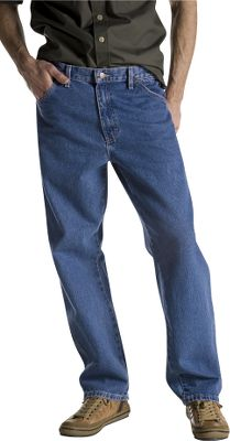 Rugged 14-oz. cotton denim is stone washed for a broken-in fit and feel. Durable details include heavy-duty brass zipper and rivets at all stress points. Fit over work boots. Imported. Inseam: 30. Waist sizes: 30-42. Inseam: 32. Waist sizes: 30-38. Inseam: 34. Waist sizes: 30-44. Inseam: 36. Waist sizes: 32-44. Color: Stone Wash Blue. Size: 33. Color: Stone Wash Blue. Gender: Male. Age Group: Adult. Material: Denim. Type: Jeans. - $24.99