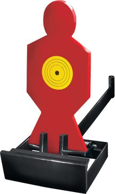 These steel-plate targets lay down and flip back up after a hit for a shooting-gallery-style target reaction. A deflection plate in the wide, stable base directs spent bullets harmlessly downward. Steel-plate targets remove for storage.Available:.17/.22 Rimfire TargetDimensions: 13H x 6W with a 10.4-wide base.Weight: 13.3 lbs. Type: Targets. Size Body Shot Target .22. - $48.88