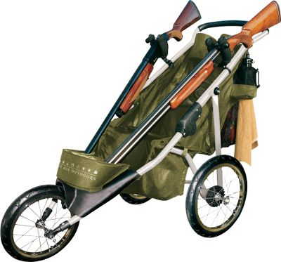 "Move your gun and gear effortlessly from station to station with this lightweight, easy-rolling buggy. It holds two long guns and all the ammunition you'll need for a full round at the range. Plus, there's an assortment of accessory-organizing pockets. Aluminum frame folds for compact transport. Padded handle. Imported.Weight: 21.6 lbs. Set-up dimensions: 45-1 4""L x 24""W x 40-1 2""H. Folded dimensions: 38-1 2""L x 24""W x 23""H. - $119.88"