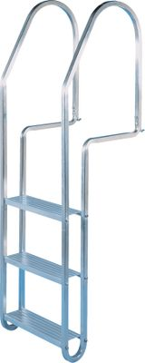 Get into and out of the water at your lakeside retreat with this incredibly durable, rust-resistant dock ladder. The 1 anodized aluminum tubing is crafted with extra-heavy walls to support incredible amounts of weight, and the joints are fashioned from stainless steel hardware instead of welds or inferior materials that can succumb to the damaging effects of the weather. Each step is also manufactured of rust-resistant aluminum for years of use submerged underneath the waterline. Easily hung with pre-drilled mounting holes. Rail height is 24-1/2 above dock. Distance from dock to first step is 12 , 10-1/2 between steps. Available: 3-step, 4-step, 5-step ladders. Color: Stainless Steel. - $124.88