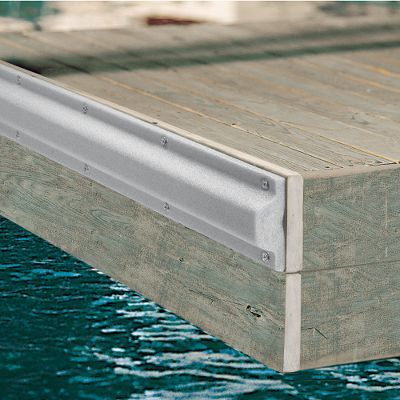 Extruded U.V.-stabilized polyethylene foam bumper is contoured on back to mount on dock or pilings. Light gray color matches weathered wood. Stainless steel screws, washers included. Measures: 48 L x 2-3/4 D x 5 W. Color: Stainless Steel. - $25.88