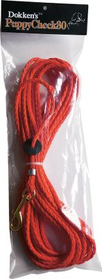Hunting Lightweight and versatile, this two-in-one nylon rope can be used as a clip-on or slip-lead check cord. Ideal for puppies and smaller breeds. Resists stretching and water retention. 30-feet long. - $15.99