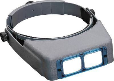 Flyfishing Eliminate eye strain while you're tying flies or working on lures. The OptiVisor is a precision binocular headband magnifier (2.5x) that lets you see your work up-close while leaving your hands free. It can be worn over prescription or safety glasses. Equipped with ground and polished optical lenses that can be interchanged to lower or increase magnification. The adjustable pivot tilts the visor out of the way for normal viewing, and it includes an adjustable headband with a padded leather comfort band. - $22.41