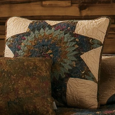 Entertainment High-quality fabrics and craftsmanship make this decorative pillow a comfortable, long-lasting addition to your home or cabin. 100% cotton pillows have a pleasing 100% bleached-cotton-batting fill. Per each. Imported. Available: Star 15 x 15 Rectangle 11 X 22 Color: Star. - $39.99